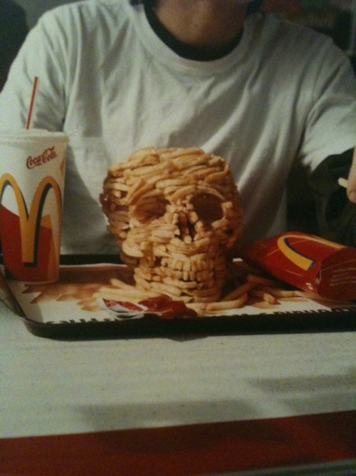 mcdonalds skull frenchfries