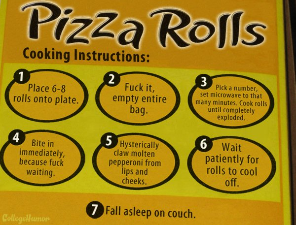 how to prepare pizza rolls