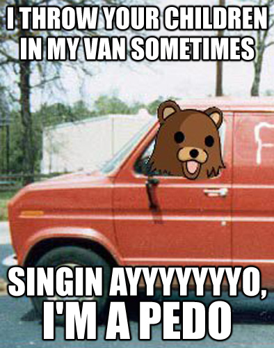 Pedo Bear Throws Children in Van sometime