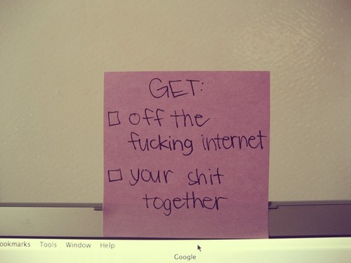 to do list get off the internet