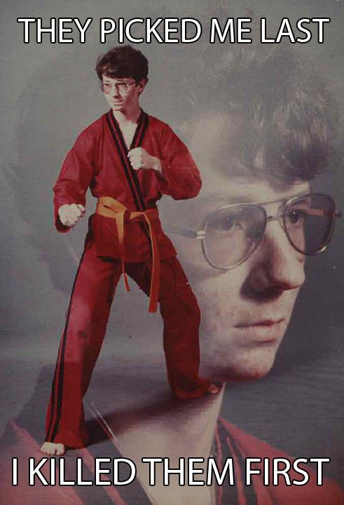 karate kyle killed them first they picked him last