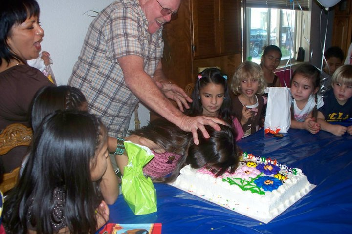 oh grandpa face smash cake