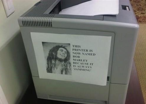 bob marley always jammin printer