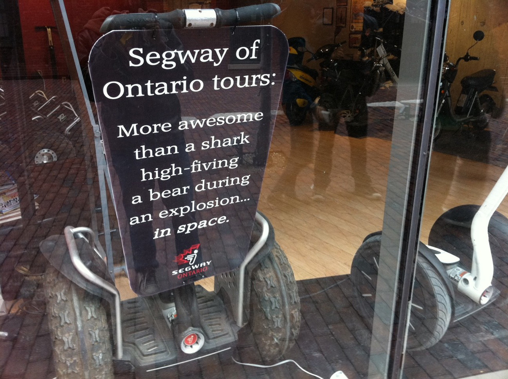 segway ontario tour shark bear space awesome