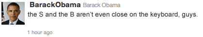Obama Twitter S and B Not Close