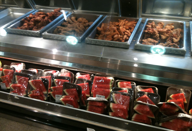 watermellon and fried chicken, great marketing or racist?