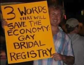 Three Words To Save Economy Gay Bridal Registry
