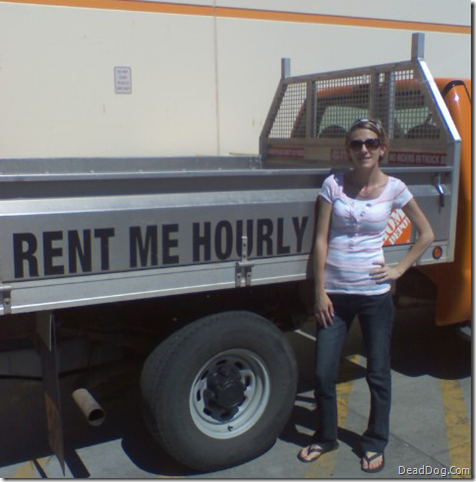 Rent Me Hourly Home Depot Truck Girl
