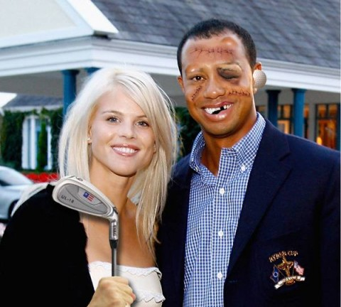 Tiger Woods Christmas Card