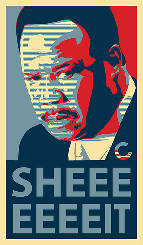 Clay Davis Obama Sheeeeeit Logo Hope Change
