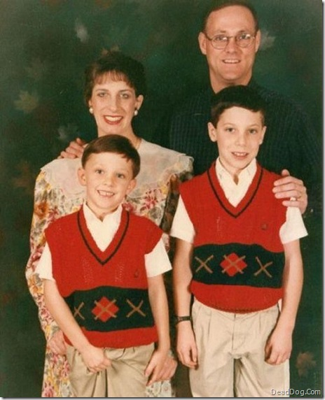 Family Photo Kid Grabs Crotch