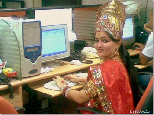 Indian Girl on Computer