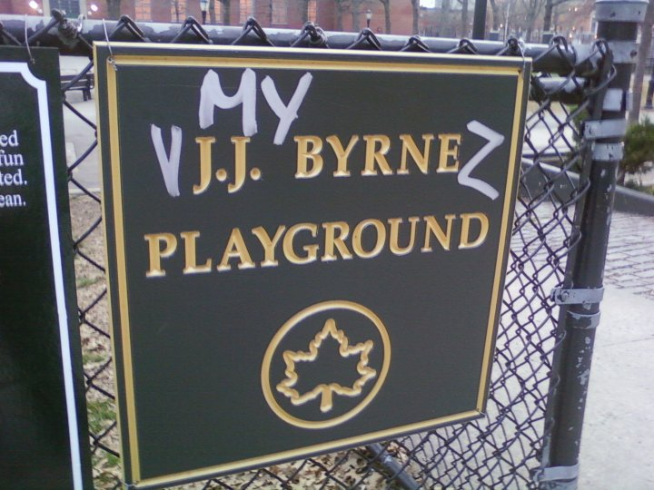my vajajay burns playground sign