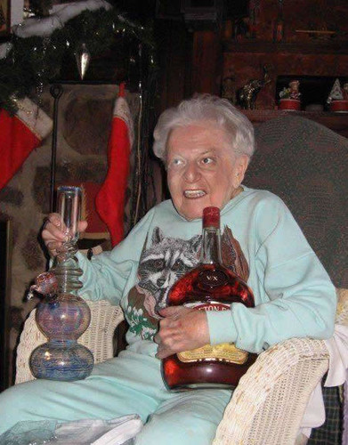 Grandma Hold Bong and Bozoe Until You Pry Them Cold Dead hands