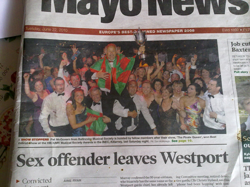 Sex Offender Leaves Westpole News Paper Trophy