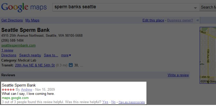 I Love Comming Here Seattle Sperm Bank