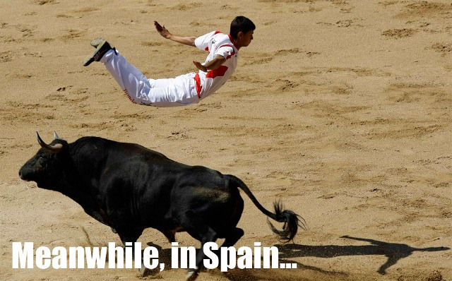 Meanwhile in Spain Hurdles Bull