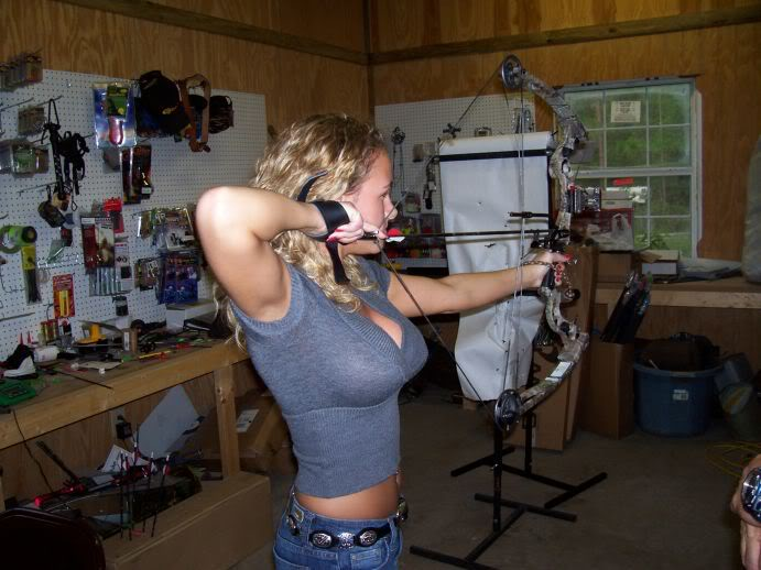 Hot Chick Bow and Arrow