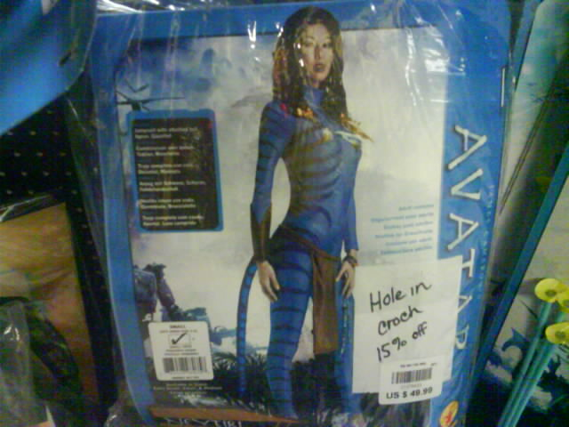 avatar halloween costume hole in crotch